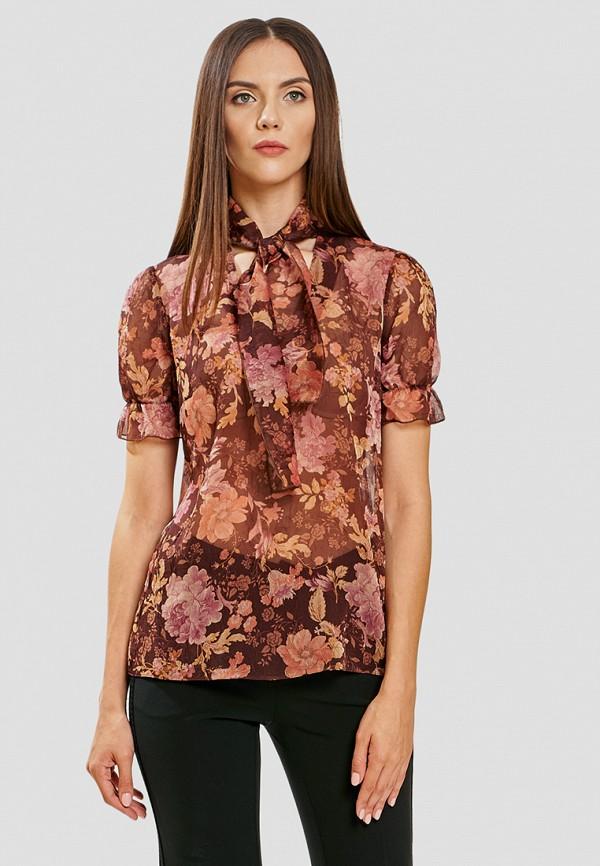 женская блузка ано, коричневая