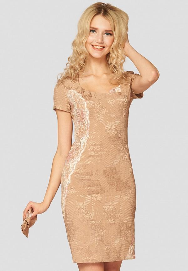 женское вечерние платье ано, бежевое
