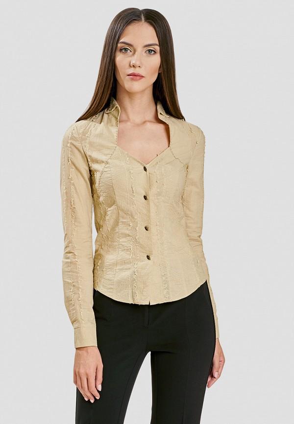 женская блузка ано, бежевая