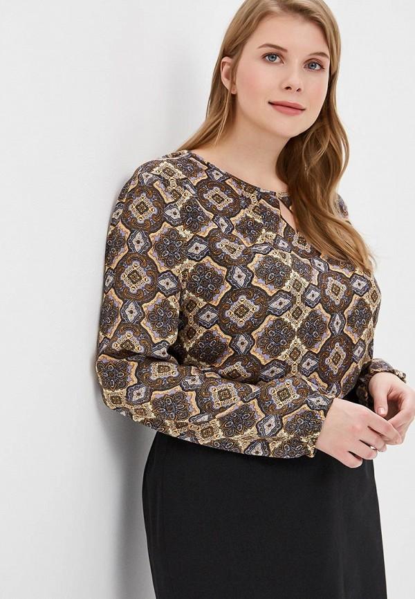 женская блузка virgi style, коричневая