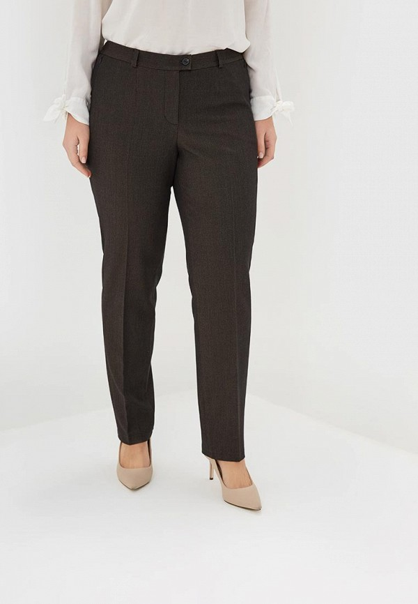 женские прямые брюки virgi style, коричневые