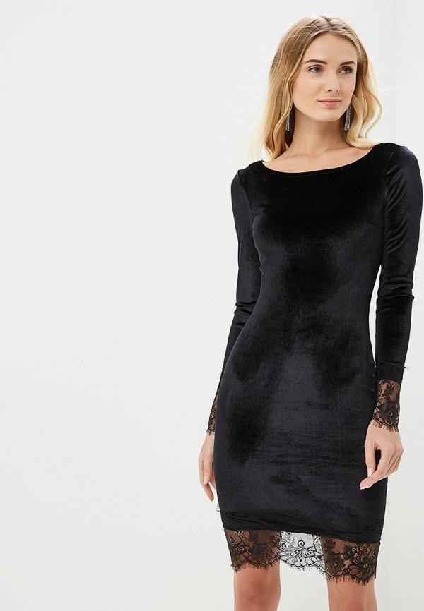 женское платье-футляр zerkala, черное