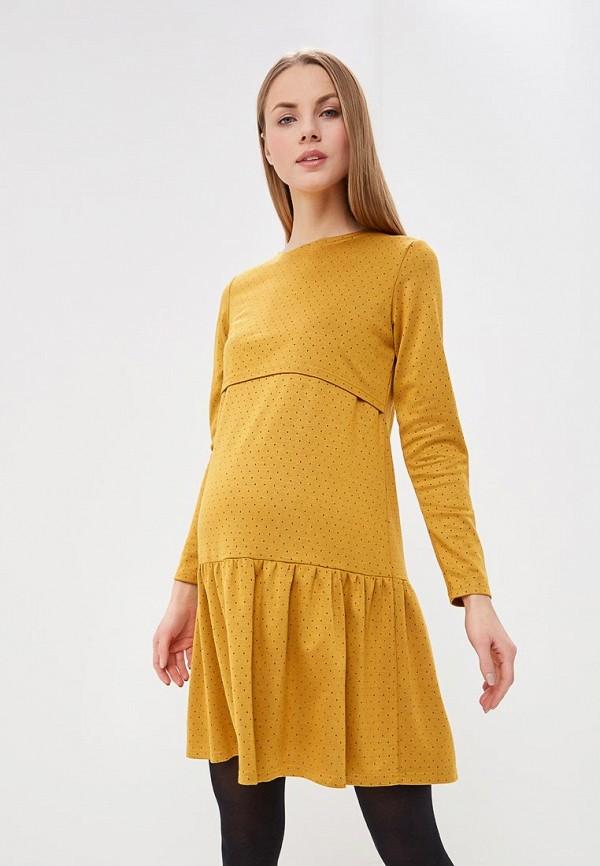 женское платье для беременных hunny mammy, желтое