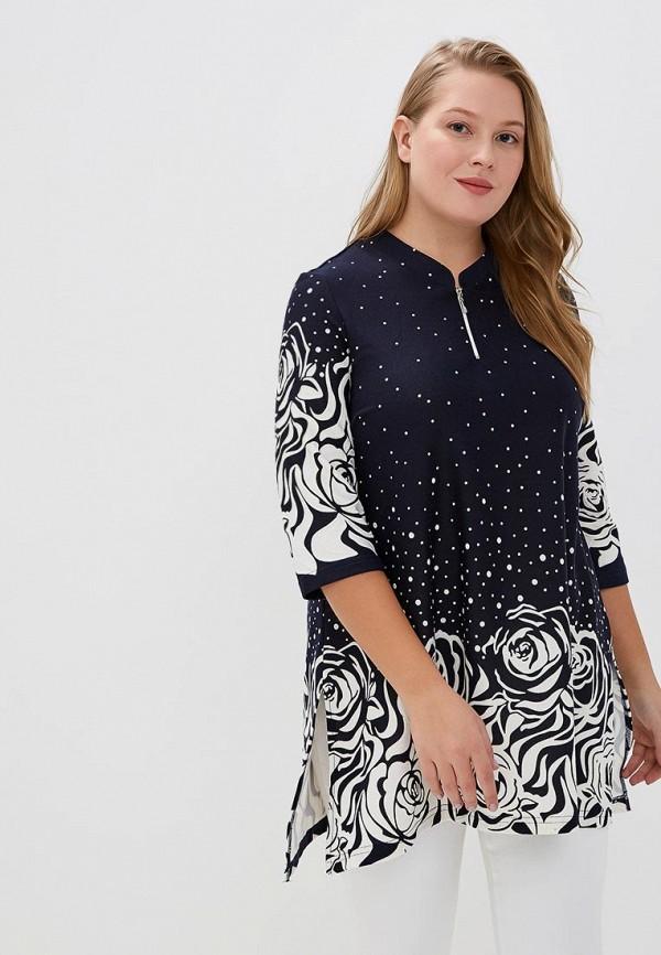 Туника Olsi Olsi MP002XW1HE2S simple v neck cap sleeve pure color spliced blouse for women