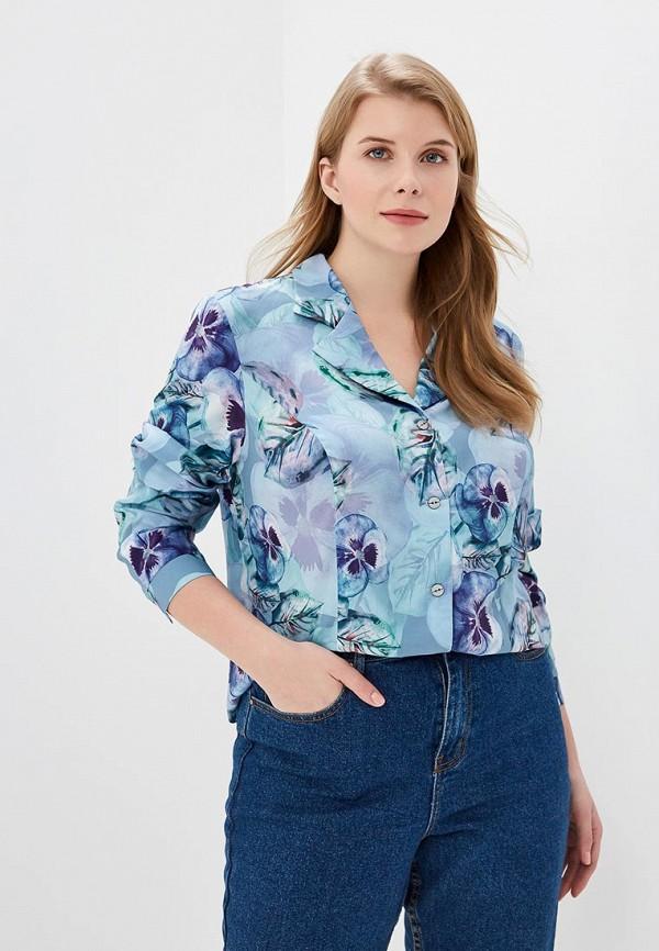 женская блузка virgi style, голубая