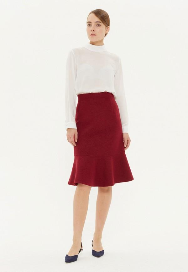 женская прямые юбка base forms, бордовая