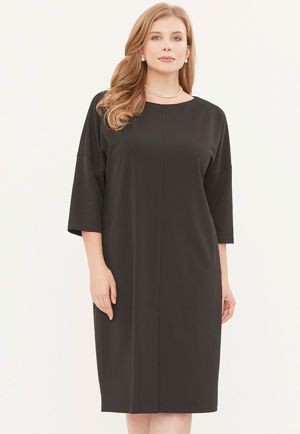 женское платье миди svesta, черное