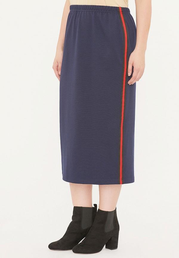 женская прямые юбка svesta, синяя