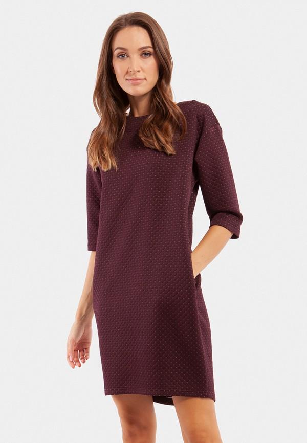 женское повседневные платье vladi collection, бордовое