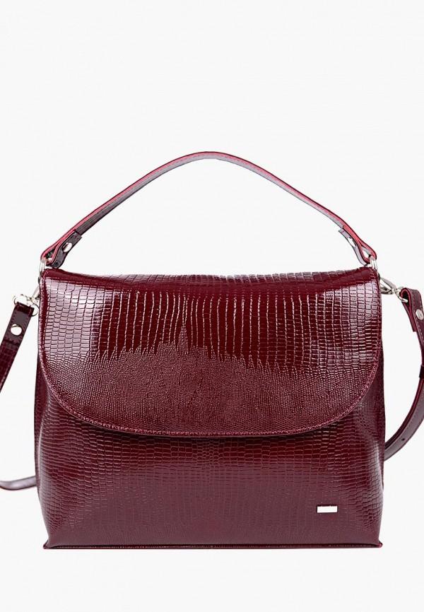 женская сумка esse, бордовая