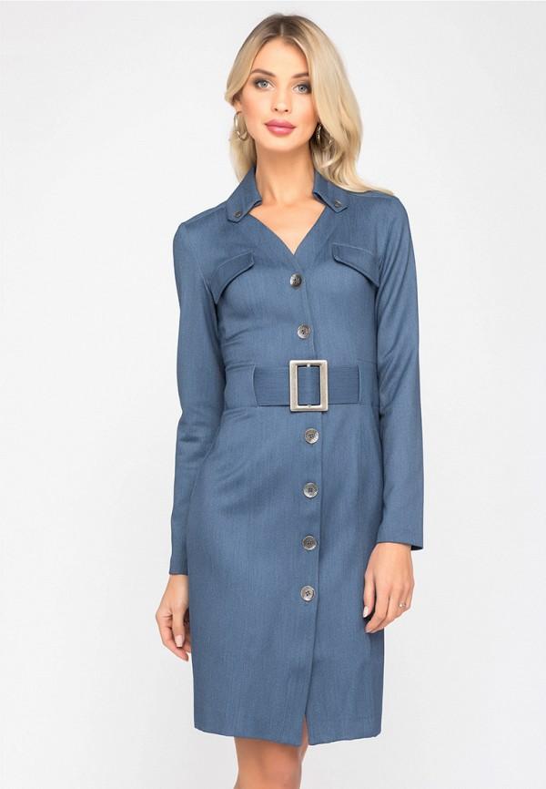 женское повседневные платье gloss, синее