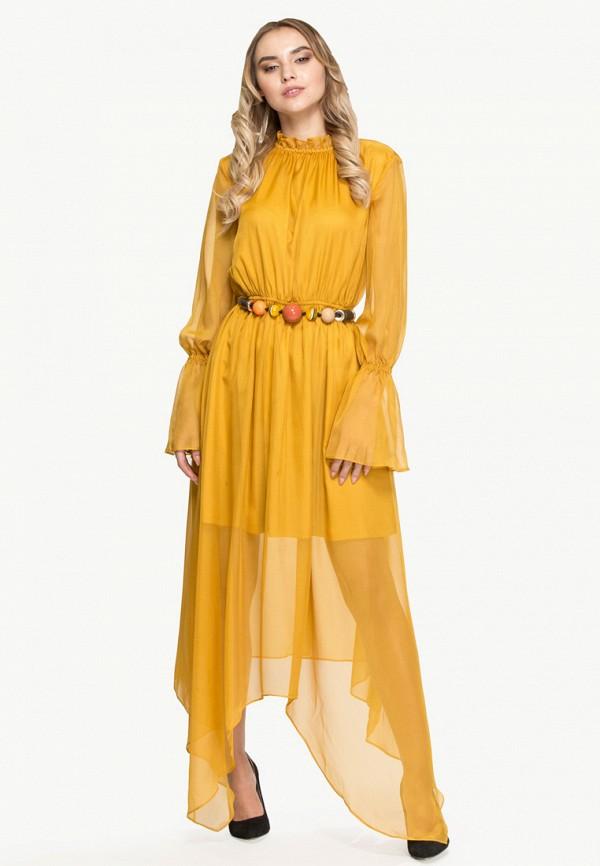 женское вечерние платье cavo, желтое
