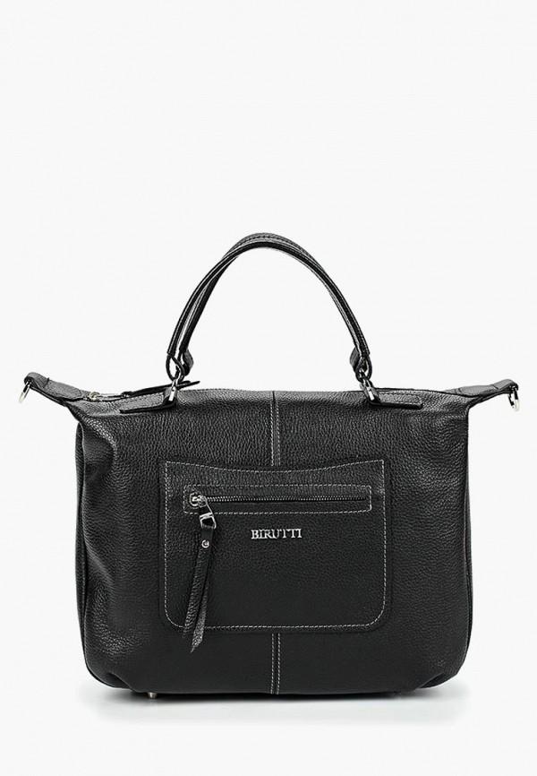женская сумка с ручками alessandro birutti, черная