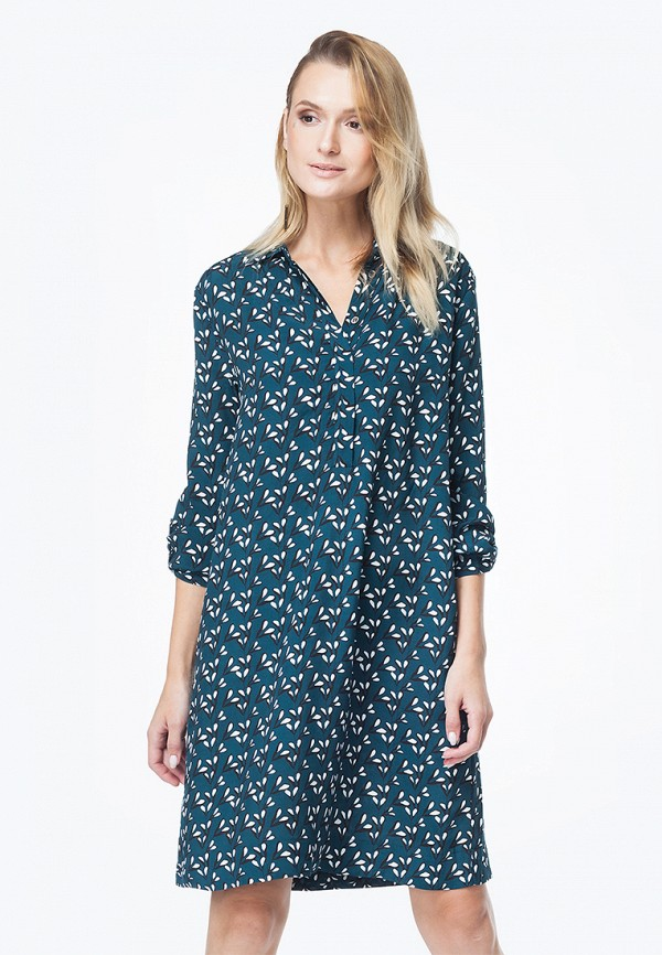 женское повседневные платье vilatte, бирюзовое
