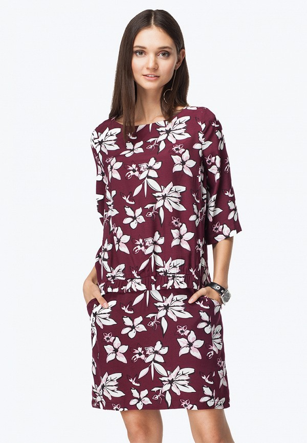женское повседневные платье vilatte, бордовое
