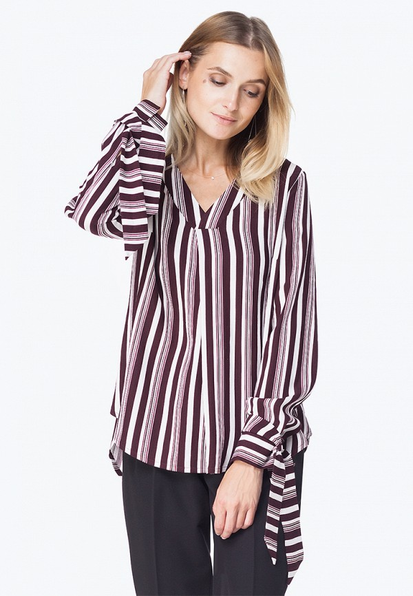 Блуза Vilatte Vilatte MP002XW1HESH блуза тренд радужный блеск цвет бордовый