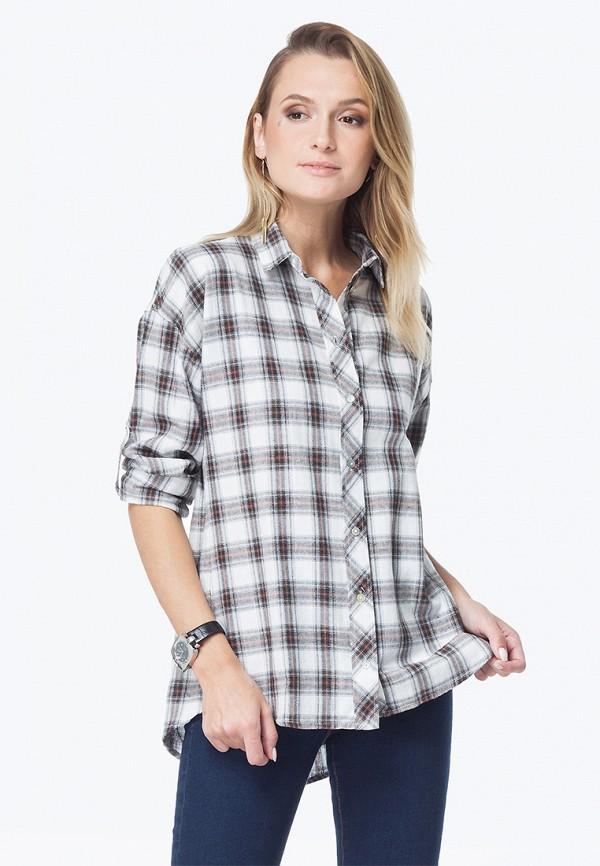 женская рубашка vilatte, серая