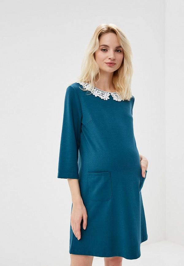 женское повседневные платье мама мила, зеленое