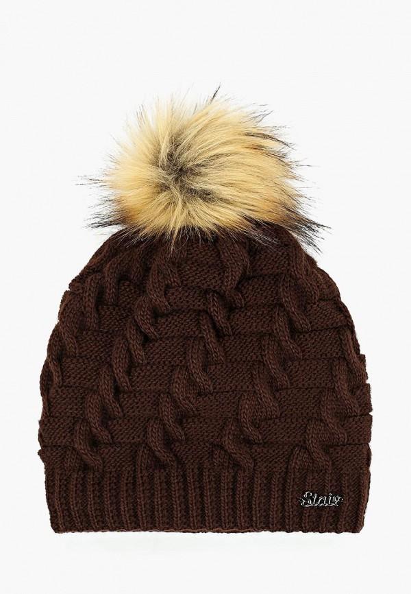 женская шапка staix, коричневая
