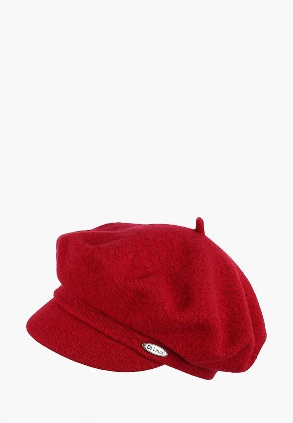 женская кепка di lana, красная