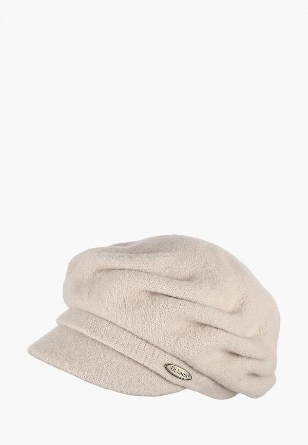женская кепка di lana, бежевая