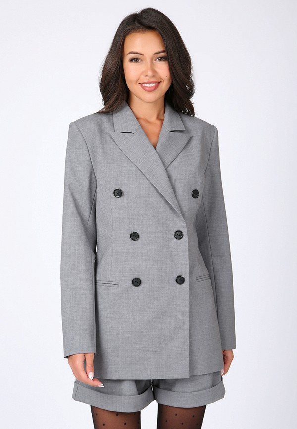 женский пиджак madlen, серый