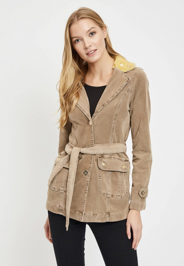 женская джинсовые куртка dshe, бежевая