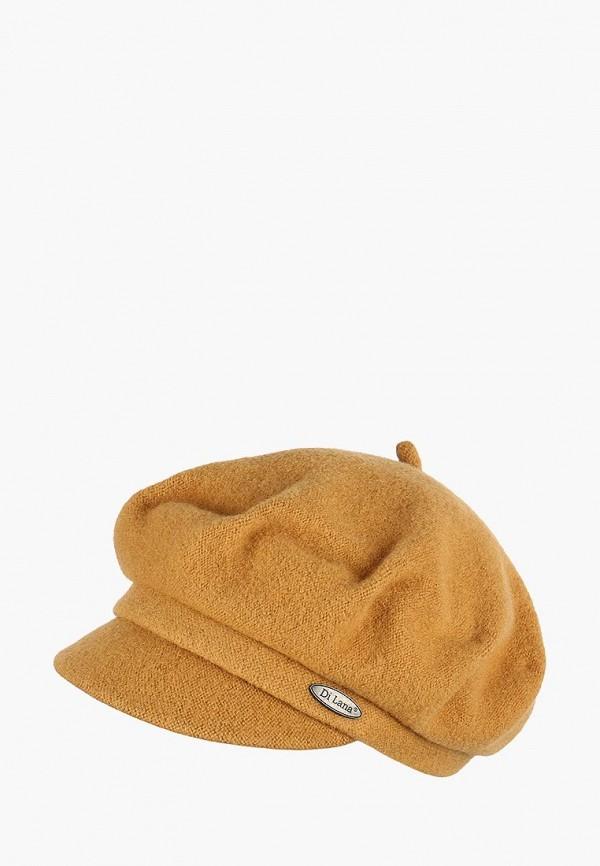 женская кепка di lana, желтая