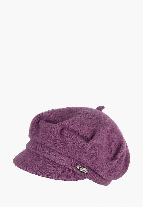 женская кепка di lana, фиолетовая