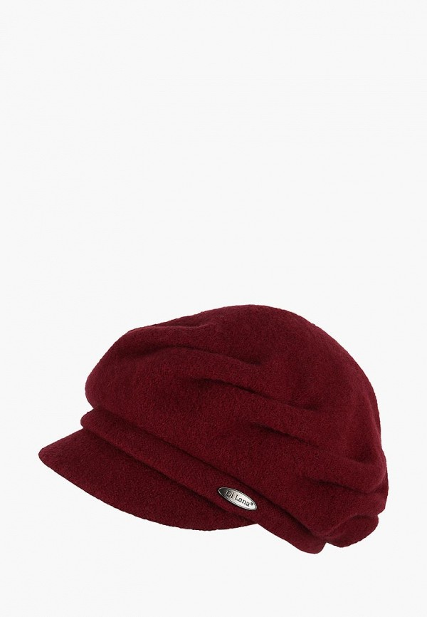 женская кепка di lana, бордовая