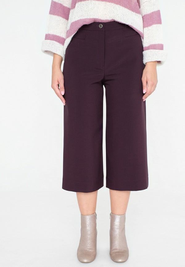 женские брюки клеш eliseeva olesya, бордовые
