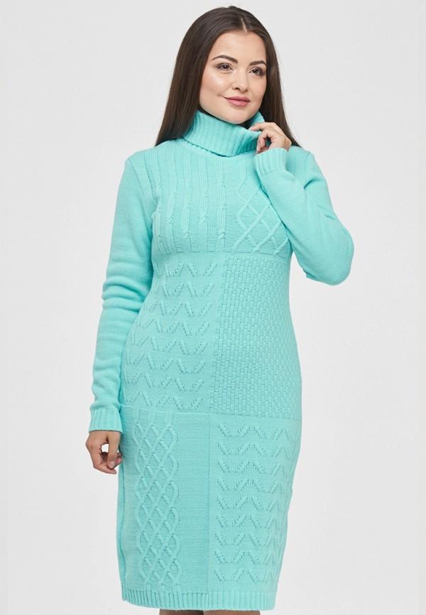 женское платье vay, бирюзовое