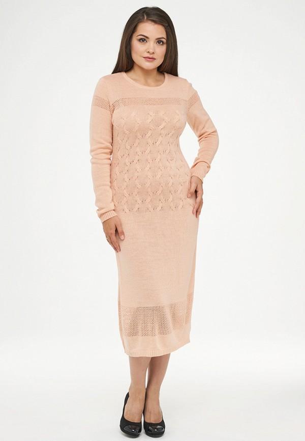 женское платье миди vay, бежевое