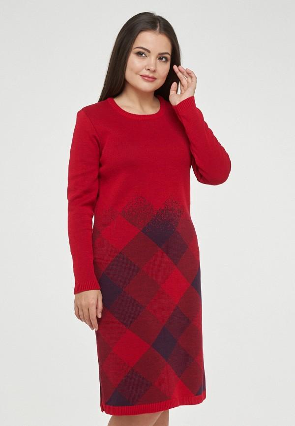 женское платье миди vay, красное