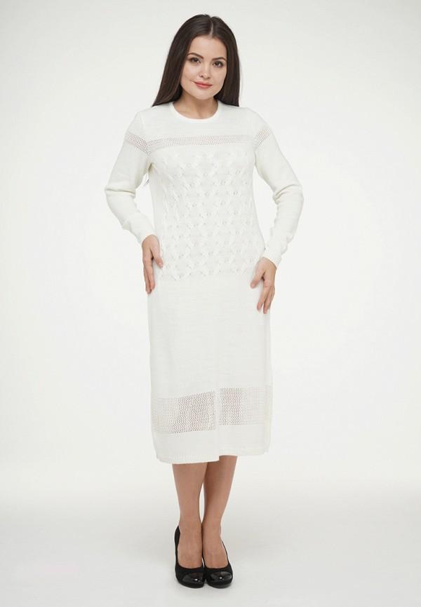 женское платье миди vay, белое