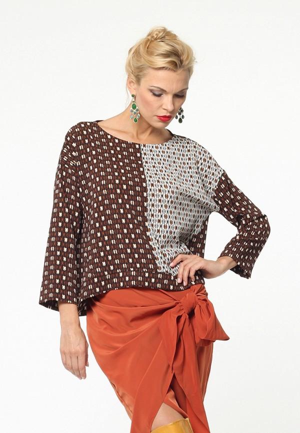 женская блузка kata binska, коричневая