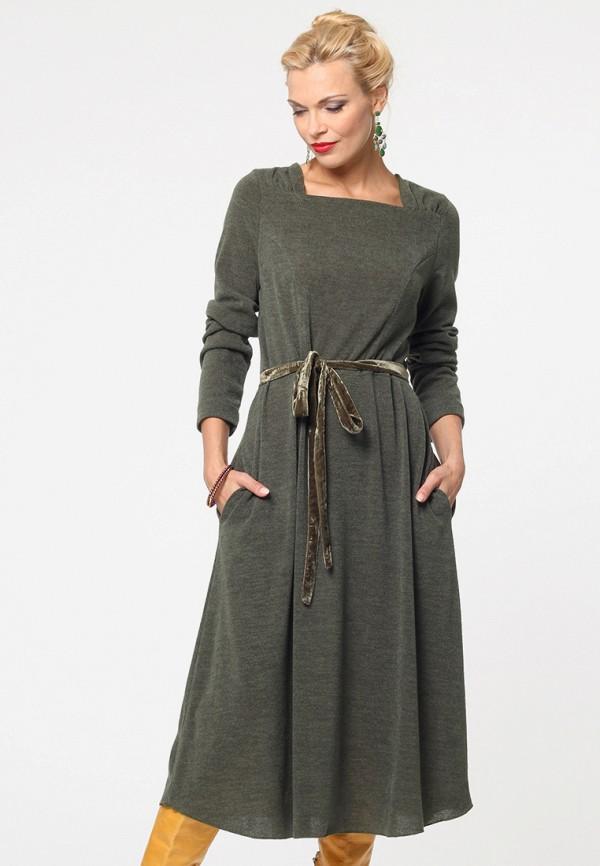 женское платье миди kata binska, хаки