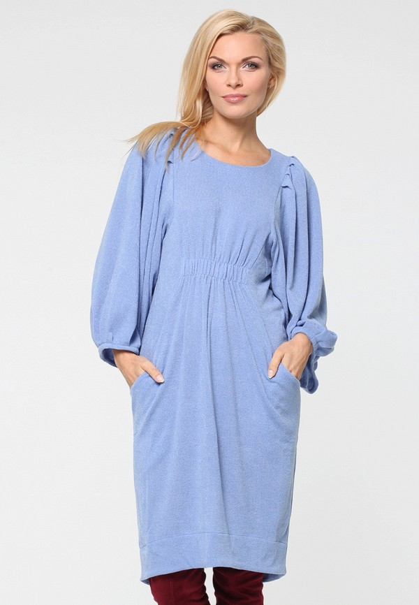 женское платье миди kata binska, голубое