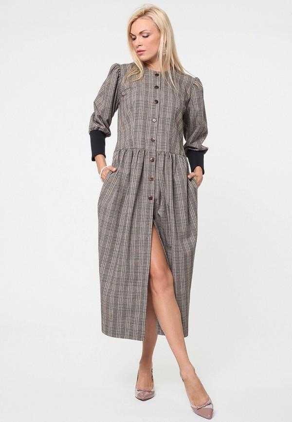 женское платье макси kata binska, серое