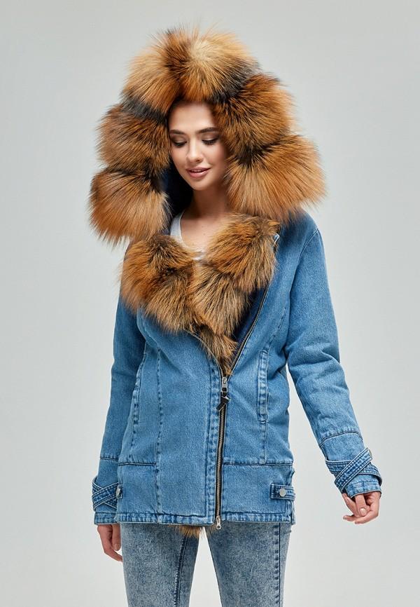 женская джинсовые куртка mila nova, синяя