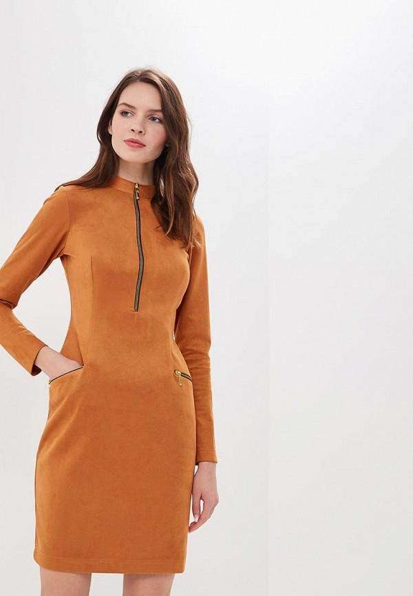 женское повседневные платье elit by ter-hakobyan, оранжевое