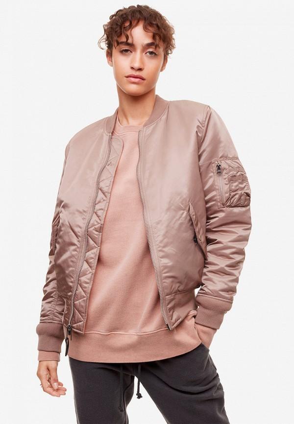 женская куртка alpha industries, розовая