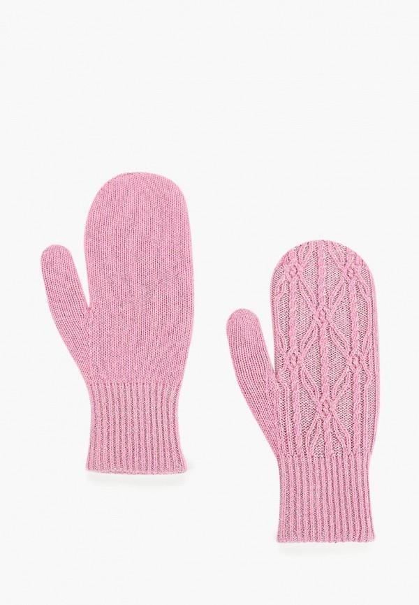женские варежки jacote, розовые