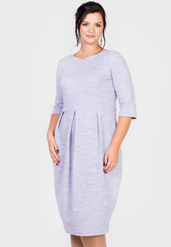 женское платье миди filigrana, фиолетовое