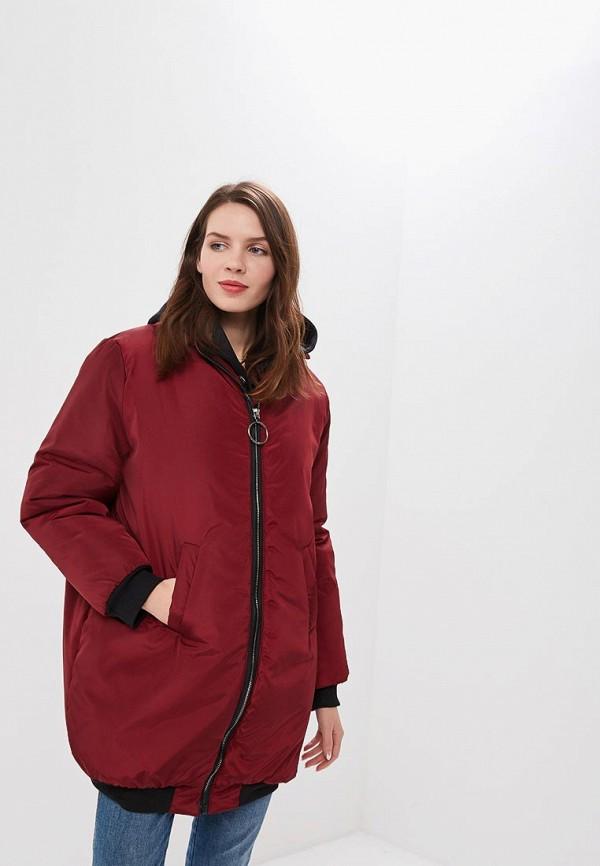 женская куртка sfn, бордовая