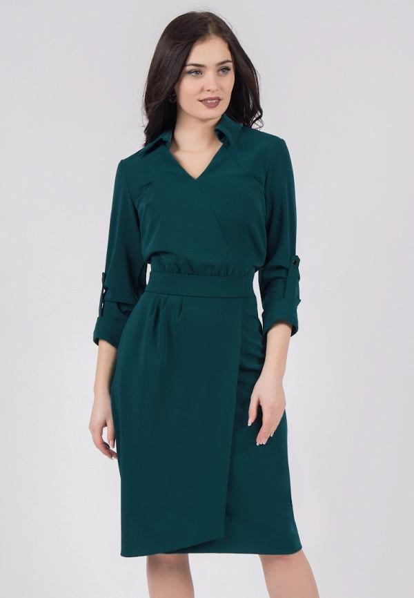 женское платье миди grey cat, зеленое