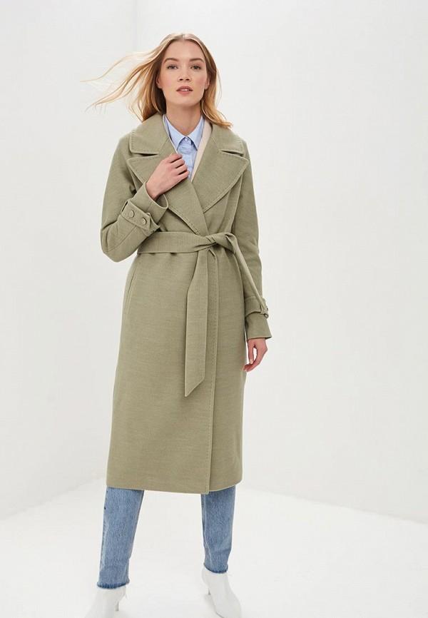 женское пальто de marse, зеленое