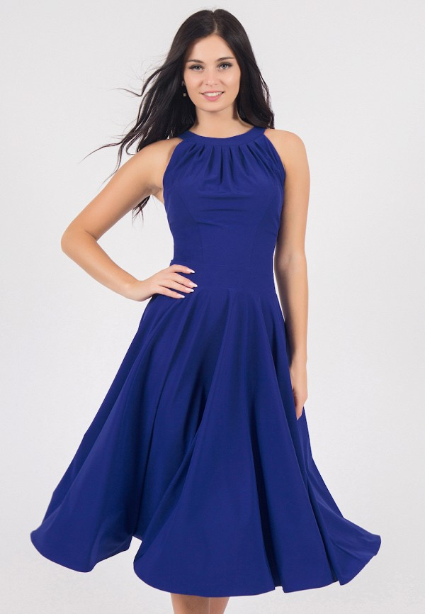 женское вечерние платье grey cat, синее