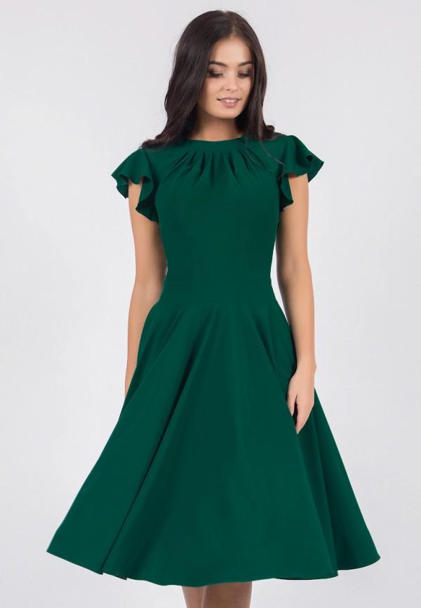 женское вечерние платье grey cat, зеленое