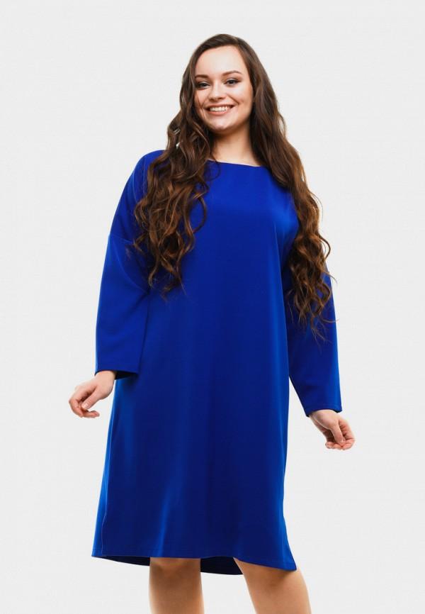 женское платье миди magwear, синее